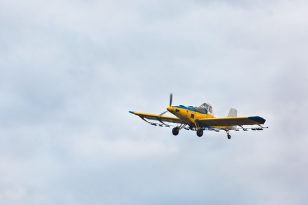 small plane: small plane for agriculture in the sky