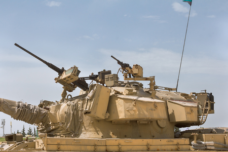Collection of old tanks and armored vehicles in Israel Stock Photo