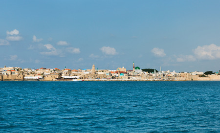 View of the city of Akko from the sea Editorial