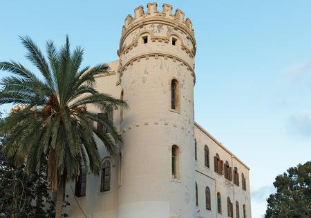 jaffa: white tower in the old Jaffa