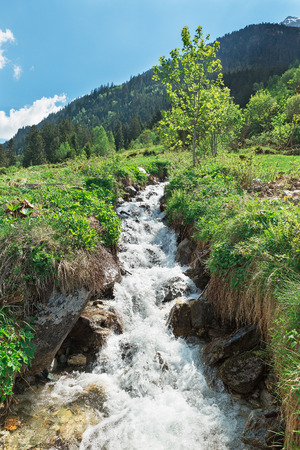 river: Mountain river in the Alps Switzerland