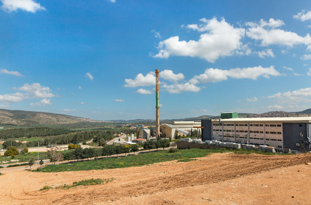 landscape of an industrial zone in Israel Stock Photo