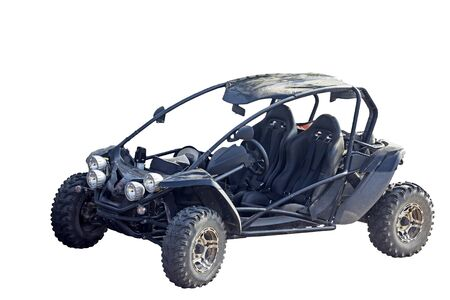 Buggy car on a white background