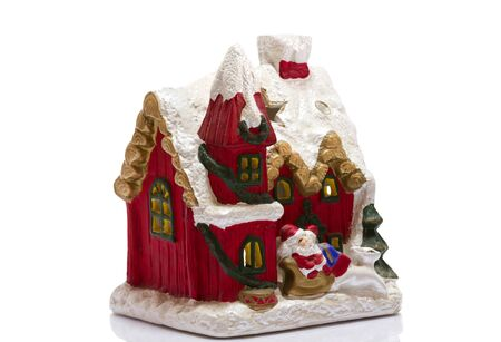 house by Santa Claus on a white background