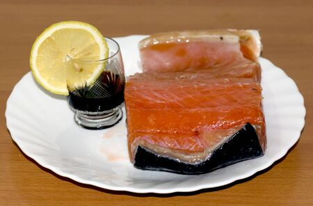 brandy and lemon salmon Reklamní fotografie