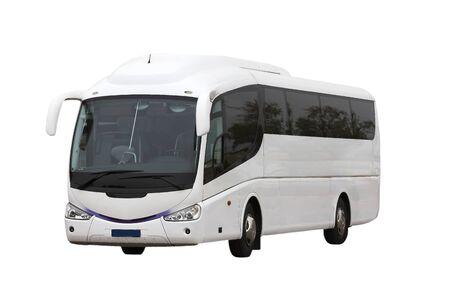 Autobus turistico su sfondo bianco