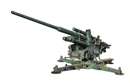anti-aircraft gun isolated on a white background