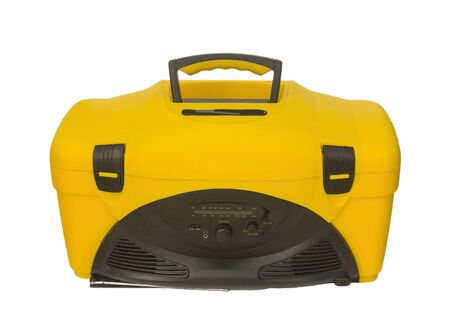 cooler with a radio, a good thing for a picnic Banque d'images