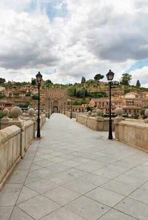 Beautiful Roman bridge in Toledo