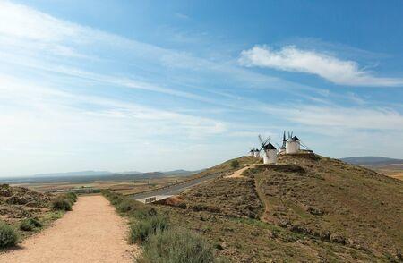 Don Quixote Windmills in Consuegra Spain Foto de archivo