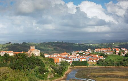 view of the city of San Vicente de la Barquera Spain