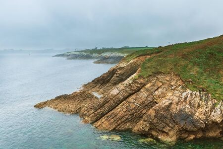 beautiful coast of the Bay of Biscay, Spain
