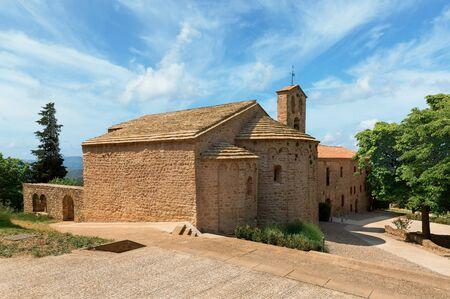 Santa Cecilia chapel in the mountains of Montserrat Spain