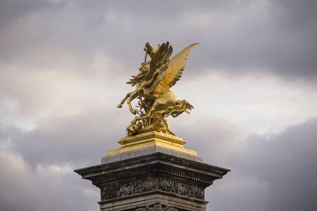 Pegasus on a bridge in Paris
