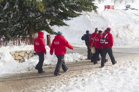 Ski instructors after instructing