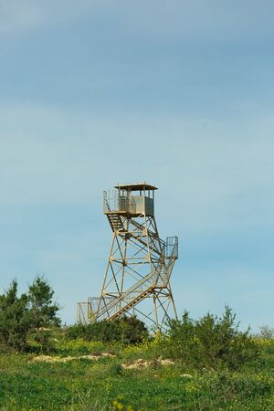 observation tower on Mount Gilboa in Israel