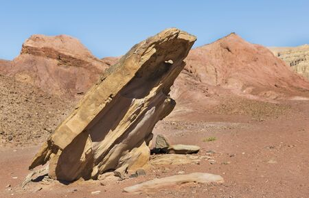 Beautiful rocks in the wilderness in Eilat