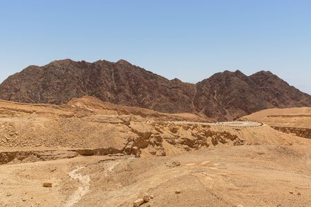 road and mountains in the desert of Eilat