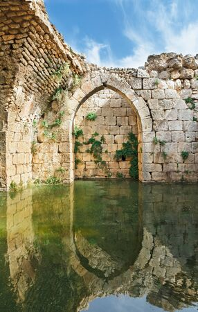 Archaeological excavations of the fortress Nimrod in Israel Standard-Bild