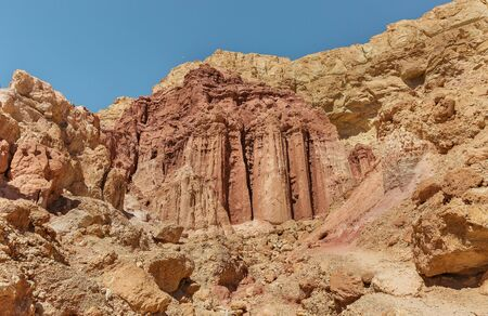 Desert and mountain canyons in Eilat