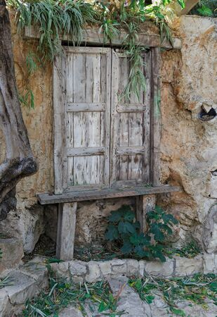 Old wooden gate close-up