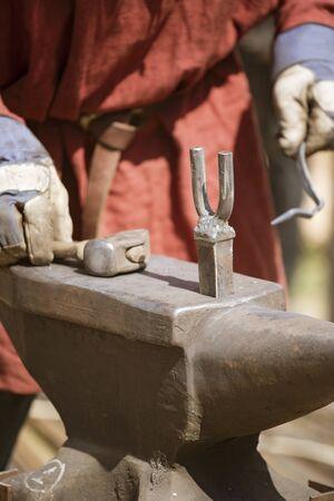 forging metal closeup
