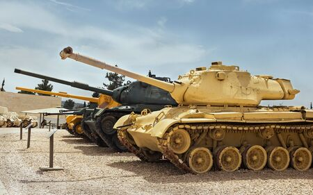 Collection of old tanks and armored vehicles in Israel Sajtókép