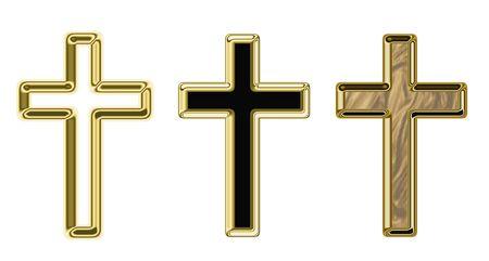 iron cross: Crosses, illustration on a religious theme