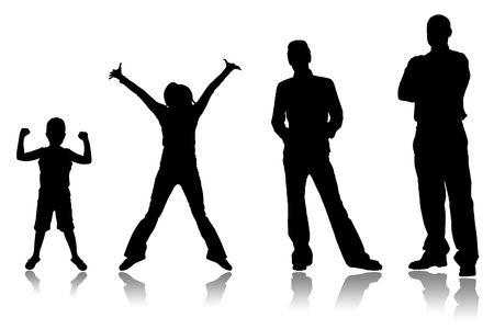 pubertad: Etapas de un creciente de la persona, desde ni�o a adulto