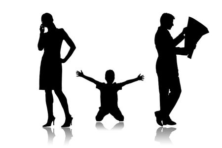 Parents which do not communicate with the child photo