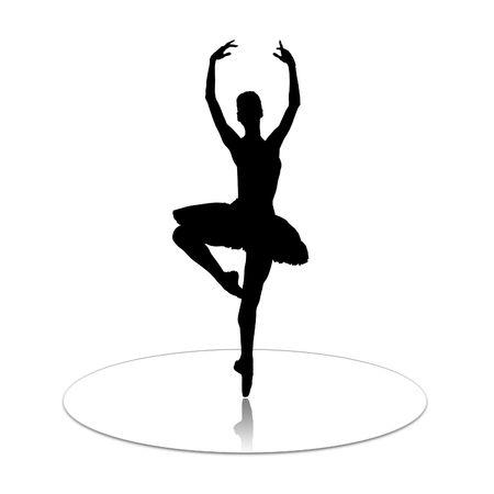The ballerina who dances on mirror to a floor