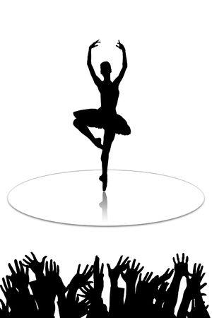 The ballerina who dances on mirror to a floor Stock Photo - 5760014