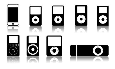 hifi: Different models of players on a white background