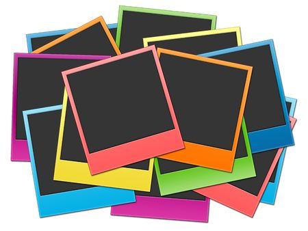 insertar: Muchos disparos sobre un fondo blanco en color del arco iris
