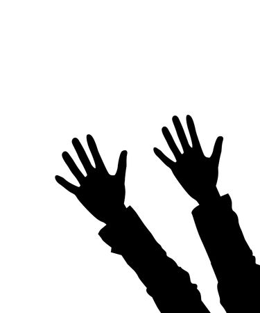 hands lifted: Illustration of two hands lifted upwards, as a background