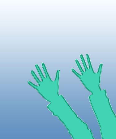 lifted hands: Illustration of two hands lifted upwards, as a background