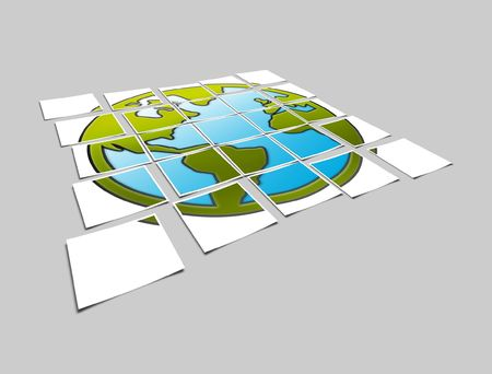The photo planet earth on a background Stock Photo - 5761069