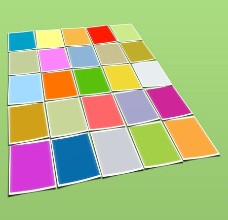 allocate: Background from many colour squares, in the form of frameworks Stock Photo