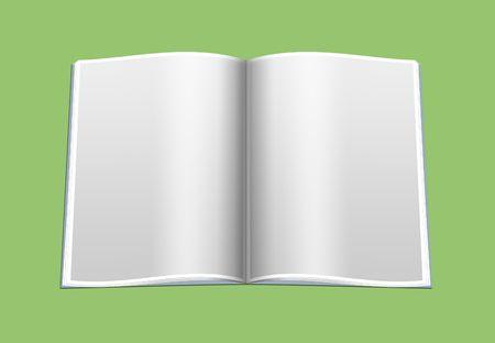 apriva: Il libro aperto con pagine vuote, come modello