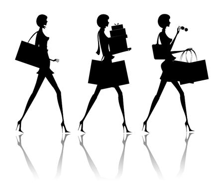 glamur: The woman going with purchases from shop