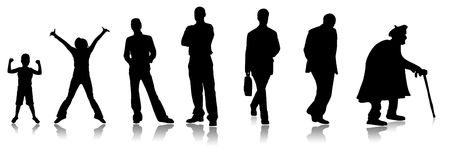 maturing: Stages of a growing of the person, from the child to the adult