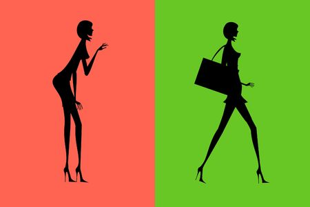 glamur: The woman going with purchases from other woman