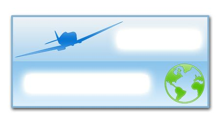 passenger airline: Illustration of the empty ticket, as template for filling