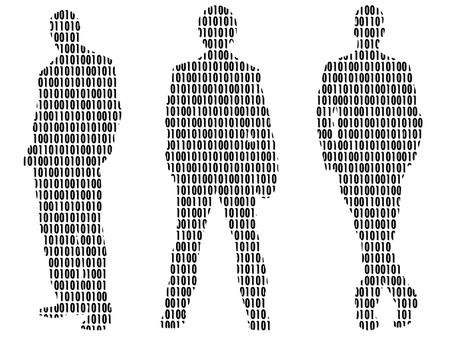 different figures: Illustration of a command of people, from different figures