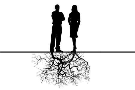 interdependent: Relations between the man and the woman with deep sense