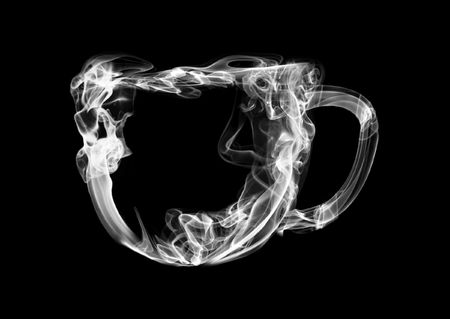 transparence: Illustration of a cup from a smoke on a black background