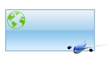 return trip: Illustration of the empty ticket, as template for filling