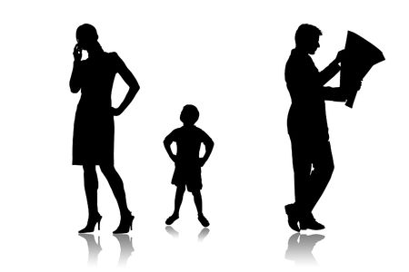 Parents which do not communicate with the child