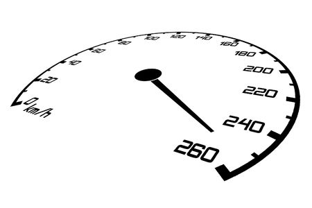 fastest: Speedometer with an arrow which goes on a maximum of speed