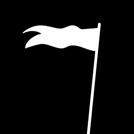 truce: Illustration of a flag of truce on a dark background